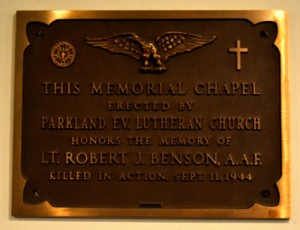 Memorial Church plaque