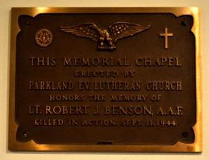 Memorial Church plaque